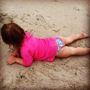 Our little sand baby, at it again!