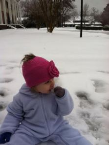 riley in the snow 2014