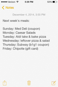 pregnant meal plan